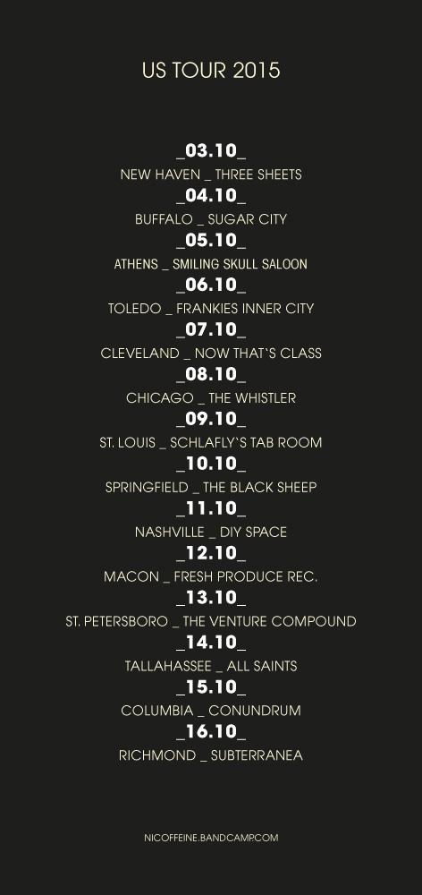 Nicoffeine US-Tour Poster 2015