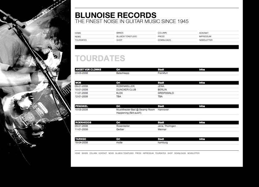 BluNoise Rec. Website