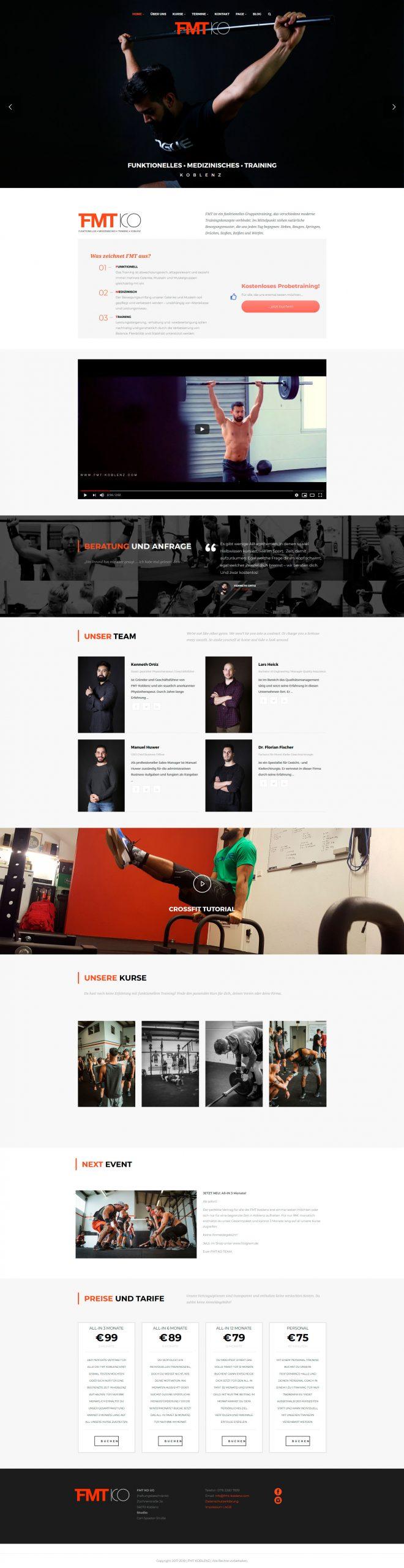 FMT Koblenz / Website