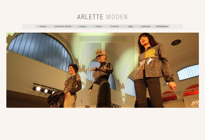 Arlette Moden Website 2008